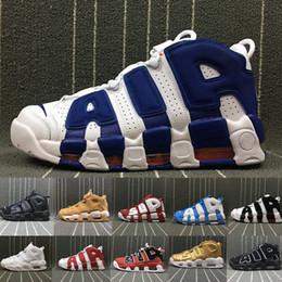 1b6af9373f57 2018 Air More Uptempo 96 QS Олимпийский UNC белый красный мужчины  баскетбольная обувь 3 м мужские Scottie Pippen обувь дизайнер кроссовки  люксовый бренд ...
