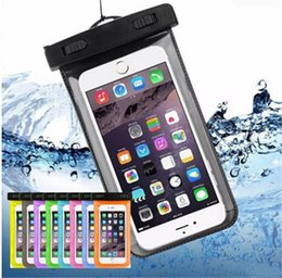 Wholesale Compass Water - Dry Bag Waterproof case bag PVC Protective universal Phone Bag Pouch With Compass Bags For Diving Swimming For smart phone up to 5.8 inch