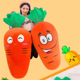 Wholesale Plush Carrot - Carrots Plush toy doll 4 different size soft pillow suitable as gift for Kids girlfriend A-0502