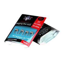 Wholesale Building Heating - Authentic Demon Killer Raging Fire Coil NI80 Prebuilt Nichrome 80 Wire Pre-built Coils Premade Wrap Heating Wires for Vape RDA RTA DHL