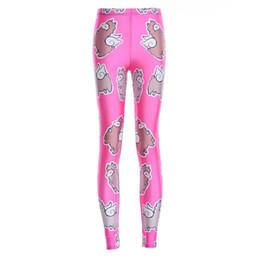 Patrones impresos rosa roja online-Pantalones elásticos elásticos impresión digital en 3D Rose roja oveja inferior patrón mujeres polainas 7 tamaños ropa de fitness envío gratis
