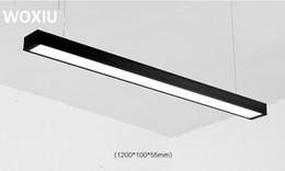 WOXIU levou Longo escritório iluminação lustre personalidade criativa costura simples loft vento restaurante de casa iluminação do mall de Fornecedores de lâmpada incandescente vermelha