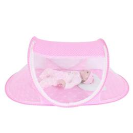 Wholesale mesh crib - Portable Summer Infant Baby Crib Netting Multi-Function Foldable Cradle Mosquito Net Tent Newborn Bedding Protection Mesh