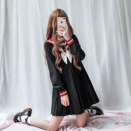 Tão BONITO Menina uiforme lolita vestido saia plissada mulheres cosplay trajes estudante cheap cute dresses skirts de Fornecedores de saias bonitas de vestidos