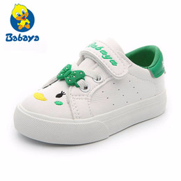 Baby Shoes girls 1-3 Years old kids White Shoes synthetic leather 2018  Spring New Cartoon Soft Bottom baby Casual boys df8d46987774