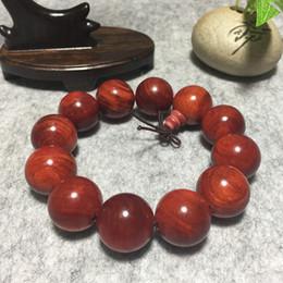 2019 pulseira de contas de madeira para homens Dragão de sangue da Indonésia pulseira de madeira 2.0 jóias dos homens 108 contas de log casais pulseira de madeira jóias
