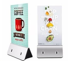 Wholesale Electronic Advertising - Novelty Electronic Product 13000mah Capacity Coffee Shop Restaurant Menu Power Bank for Phone and Tablet with Acrylic Advertising Tag
