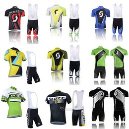 2019 mens xl bicicletta UCI Team SCOTT Cycling Jersey 9D Pad Bike Shorts Set MTB Uomo Summer Ropa Ciclismo Cycling Wear Pro BICYCLE Maillot Culotte sconti mens xl bicicletta