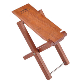 partes de transistores Rebajas Amazon Venta caliente Pedal de guitarra de madera de caoba Ajustable profesional plegable Pedal reposapiés de madera