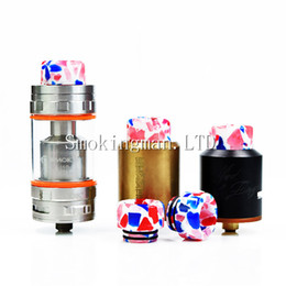 Wholesale Fit Bearing - InStock Newest 810 Milk Sugar Drip Tips Wide Bore Drip Tip Epoxy Resin Material Mouthpiece fit TFV8 TFV12 Tank Kennedy 528 Goon RDA