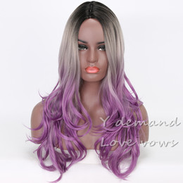 Wholesale Cheap Long Wavy Wigs Black - Women wigs Natural Cheap Hair Wigs Curly Long Synthetic Wigs Black Wavy Fiber Heat Resistant Kinky Curly Wig Cosplay