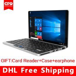 Wholesale free windows system - (Free shipping)Original GPD Pocket 7 Inch Laptop Aluminum Shell Mini Laptop UMPC Windows 10 System CPU x7-Z8750 8GB 128GB Silver