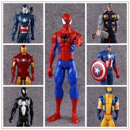 Wholesale Ironman Action Figures - 7 Styles 30cm Captain America Ironman Avengers Model PVC Action Figure Super Hero Cartoon Collectable Toys CCA8654 20pcs