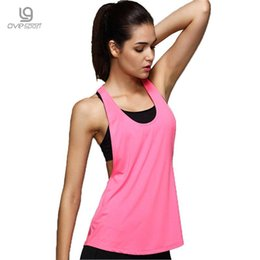Wholesale Workout Shirts For Women - Summer Sexy Workout Tops For Women Fitness Female academia Tank Top Quick Dry Loose Sleeveless Vest Singlet For Exercise T-shirt