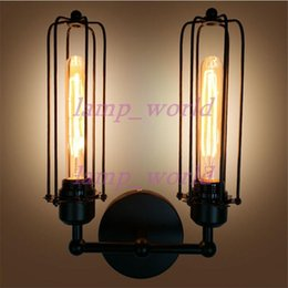 Wholesale industrial hardware - vintage Antique Iron industrial retro hardware lamp with E27 Edison bulb RH loft DIY rustic Edison Wall Lamp for Bar Hotel Indoor Lighting