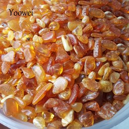 chip rock Coupons - Yoowei 100g Amber Chips Beads Baltic Natural Amber Beads Precious Stone Rock Chips Original Stone Pillow Material for Good Sleep