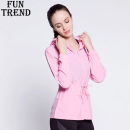 Wholesale Dry Fit Shirts Women - Sport Jacket Women Fitness Zipper Hoodie Sweatshirt Long Sleeve Sport T Shirt Women Dry Fit Running Jacket Top Sportswear