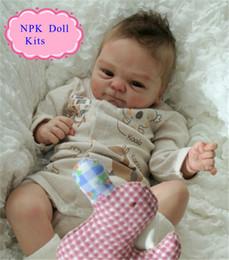 acabamento atacado Desconto Atacado Real Touch Silicone Vinil Kits Para 17 '' Acabado Boneca Boneca Quente Acessórios Para DIY Vivo Reborn Baby Doll
