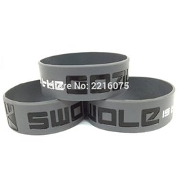 Wholesale Crossfit Wristbands - 300pcs one inch CrossFit Swole Is The Goal Fitness wristband silicone bracelets free shipping by DHL express