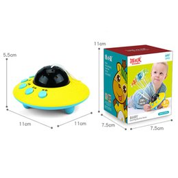 Wholesale projection lights for kids - Yuanlebao Remote UFO Toys Starlight Projection Music Lighting Toys For Baby Educational Toy Kids Birthday Gift Christmas Gif