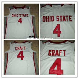 1fb675733ab ... cheap ohio state buckeyes 4 aaron craft retro embroidery basketball  jersey red white stitched name and