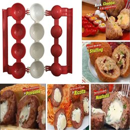 Wholesale Fishing Stuff - 2017 Newbie Meatballs Mold Stuffed Fish Meat Balls Maker ABS Homemade Mould DIY Kitchen Cooking Tools