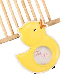 Wholesale 1 Encantador Dos Desenhos Animados Amarelo Pequeno Patinho Baby Shower Boy Crianças Festa de Aniversário Menina Mini Resina Imagem Photo Frame Home Decor