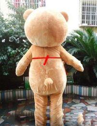 Wholesale teddy bear mascot costumes - 2017 Factory made Teddy Bear of TED Adult Size Halloween Cartoon Mascot Costume Fancy Dress EVA