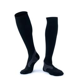 Correre maratone online-Buona qualità Long Tube Outdoor Black Socks Protezione Gamba Maratona Running Calze a compressione Calze da uomo H106S