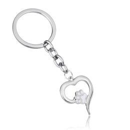 2019 спасательные собаки 12 шт / Лот Love Heart Dog Cat Print Charm Keychain Family Women Men Pet Rescue Jewelry Gift For Friends Car Keyring Key Fob дешево спасательные собаки