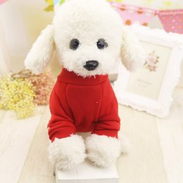 2caaf3b186af Pet Cat plus velvet winter clothes solid color sweater two-legged bottoming  shirt pet cat dog autumn and winter new clothes