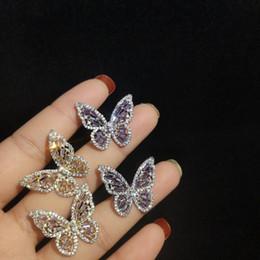 2019 aros indianos 925 brincos de prata esterlina para as mulheres bling zircônia cúbica borboleta do parafuso prisioneiro brinco feminino marca de jóias ear stud