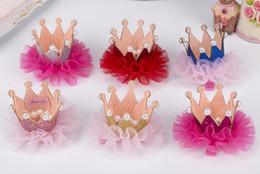 Kinder Mädchen Spitze Perle Crown Haarspange Mode Kinder Haarspangen Koreanische Kinder Haarschmuck Kleine Mädchen Geburtstagsparty Tragen Haarspangen von Fabrikanten