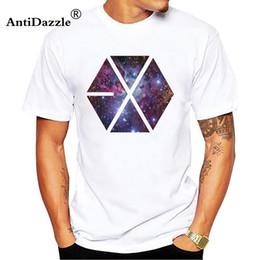 c6495abbc0492 2018 Fashion Tee EXO BAEKHYUN SEHUN T Shirt Men Short Sleeve Cotton T  Shirts EXO XiuMin SUHO LAY O-Neck Men Clothing Tops White