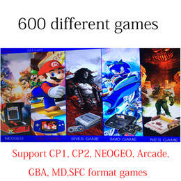 Wholesale Free Games Nes - Free DHL ship Xgame snes nes classic HDMI VGA video game consoles Built-in Different 600 Games support SD card Arcade GBA CP1 2 NEOGEO game