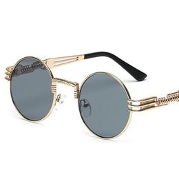 occhiali da sole rotondi steampunk Sconti Occhiali da sole rotondi in metallo di alta qualità Occhiali da sole Steampunk Occhiali da sole Occhiali da sole vintage Uv400 Vidano Optical