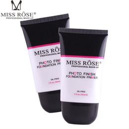 essence de perle Promotion MISS ROSE Fond de teint fondant pour le visage / la lotion Nourish Oil Control Fond de teint liquide fondant 25 ml Nude Make Up Bases Rétrécir les pores