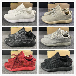 Wholesale Cheap Brown Oxfords - High quality Cheap Sale 350 kanye west Moonrock Oxford Tan Turtle Dove Pirate Black All White Red Running Shoes for Women Men Sport Sneakers