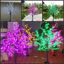 2019 fiore m LED impermeabile outdoor paesaggio giardino peschiera lampada simulazione 1.5 m 480/576 luci LED ciliegio albero luci decorazione del giardino fiore m economici