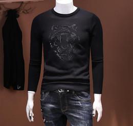 Wholesale Black Brown Cashmere Sweater - Sweater Autumn Top Design Cotton Men O-neck 2018 new design