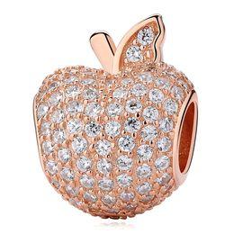 Auténtico 100% 925 Sterling Silver Radiant Droplets Rose Gold Charms Fit Original Pandora Pulseras Brazalete Para DIY Joyería Fina desde fabricantes