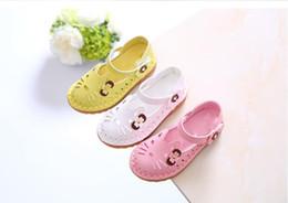 Детская обувь кошка онлайн-Детские сандалии Детская обувь девушки Принцесса мягкий Catton Cat милый малыш Детская обувь для девочек размер 21-30
