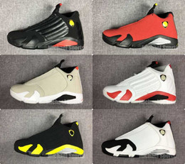 Wholesale up shots - 14 basketball shoes last shot desert sand bred black toe red car black yellow mens women trainers cheap price with Box