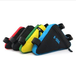 Wholesale tube pouch - Waterproof Triangle Cycling Bicycle Bags Front Tube Frame Bag Mountain Triangle Bike Pouch Holder Saddle Bag FFA019