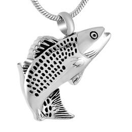 2019 colares em forma de peixe DJX9236 Venda Quente de Aço Inoxidável Jóias Cremação Colar Grande Fêmea, atacado Forma de Peixe Mulheres Accessaries Cremação Urn Urn Pingente desconto colares em forma de peixe