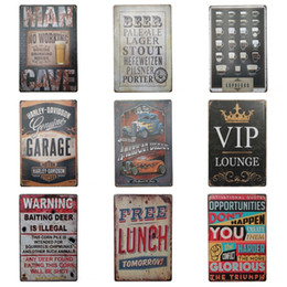 Wholesale Art Design Poster - Antique Multi Design Tin Sign Creative Beer Theme Tins Poster For Art Gallery Corridor Bar Hang Decoration Iron Painting 20*30cm Z