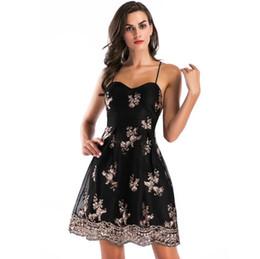 2017122539 Sexy mesh embroidery sequin dresses women Elastic strap lace up  backless party dress Zipper black mini dress vestidos 22dd9b217c08