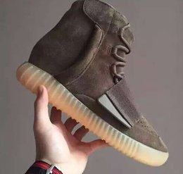 Wholesale waterproof glow lights - 2018 Boost 750 Light Grey Gum Glow In The Dark Kanye West Shoes Basketball Shoes Sneakers 750 Boost Men Sports Casual Boosts