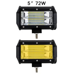 Wholesale led driving lights 4wd - 5'' 72W Led Light Bar Offroad Lights 12v 24v for UAZ SUV ATV 4WD 4x4 Trailer Wagon Pickup Driving Fog Lamp Automotive