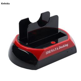 lector de sata Rebajas Kebidu HDD Docking Station Dual USB 2.0 2.5 3.5 pulgadas IDE SATA Caja de disco duro externa Caja de disco duro Lector de tarjetas